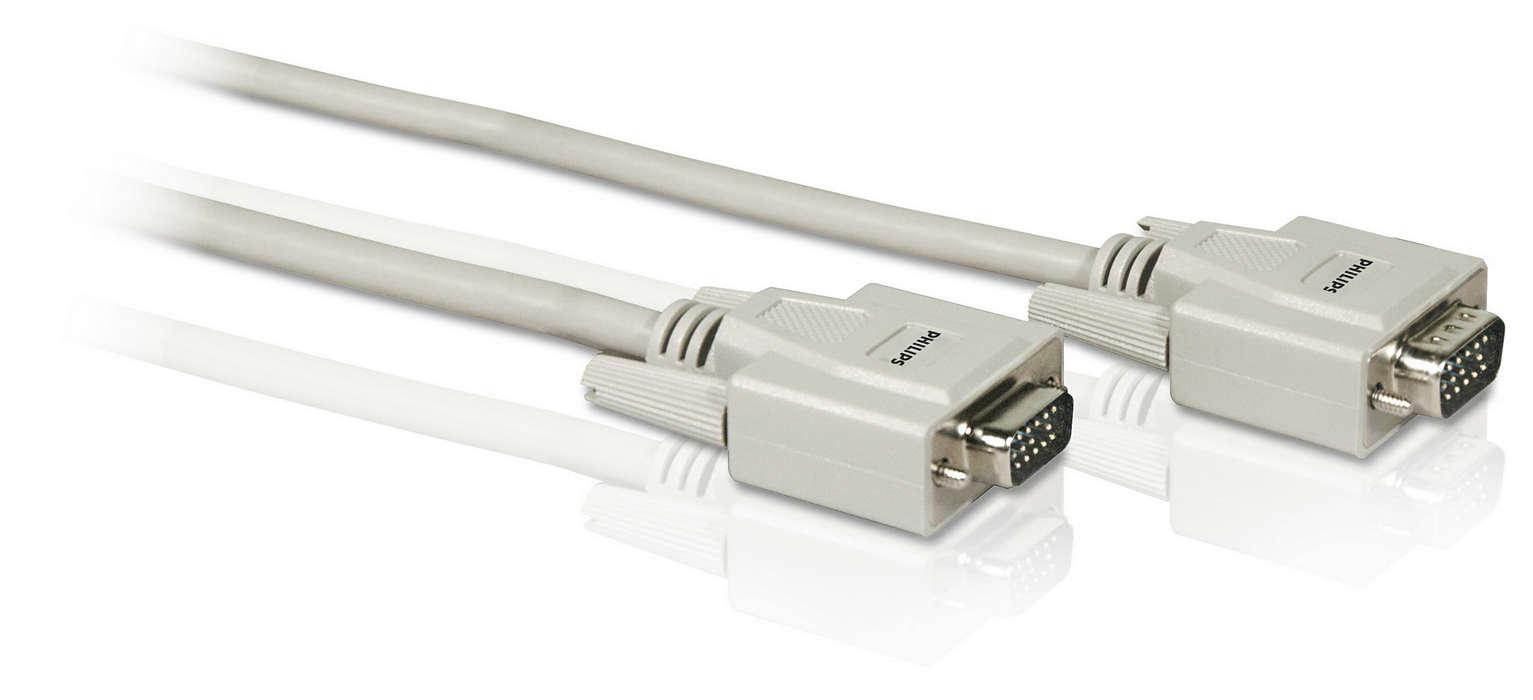 Conectaţi cablul de monitor