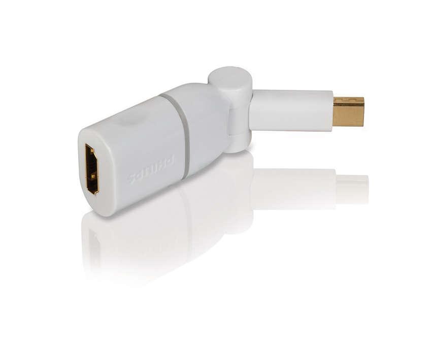 Mac-es tartalmainak megjelenítése HDTV-n