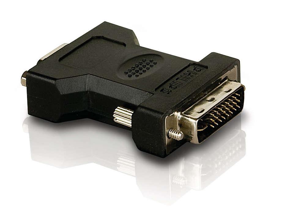 Sluit een analoge videokabel aan op een HDTV
