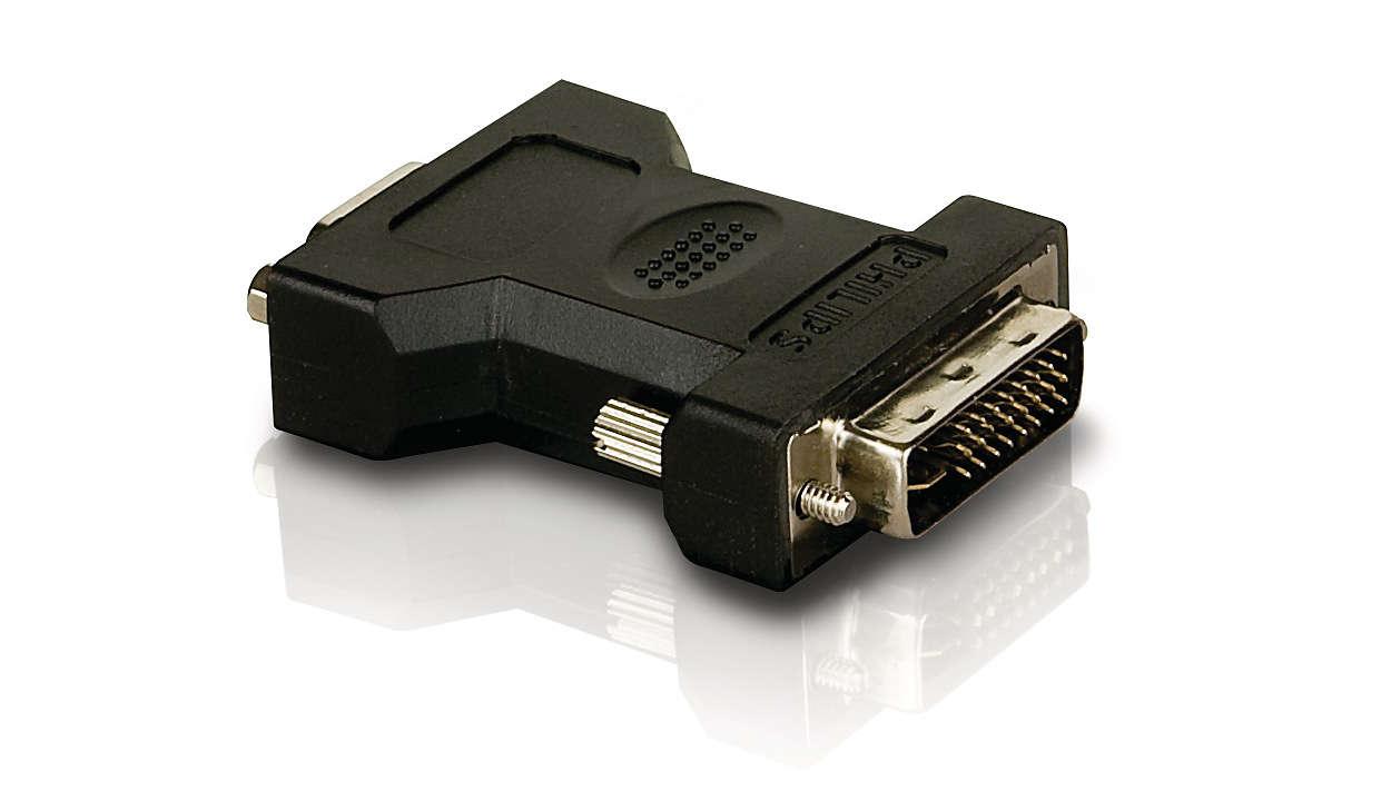 Podłączanie przewodu sygnału analogowego do telewizora HD