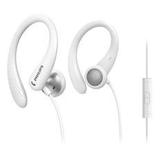 TAA1105WT/00  Į ausis dedamos sportinės ausinės su mikrofonu