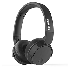 TABH305BK/00 BASS+ سماعات رأس لاسلكية بميزة إلغاء الضوضاء