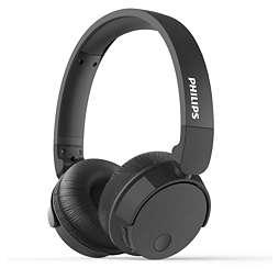 BASS+ Bezdrátová sluchátka spotlačením šumu