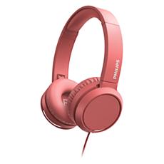 TAH4105RD/00  سماعات الرأس المثبتة على الأذن