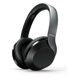 Auscult. over-ear s/ fios c/ áudio de alta resolução