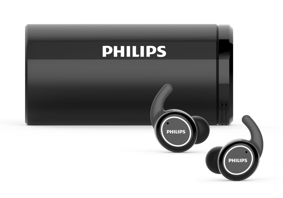 Philips 2020: True Wireless Sportkopfhörer ST702 (TAST702BK/00)