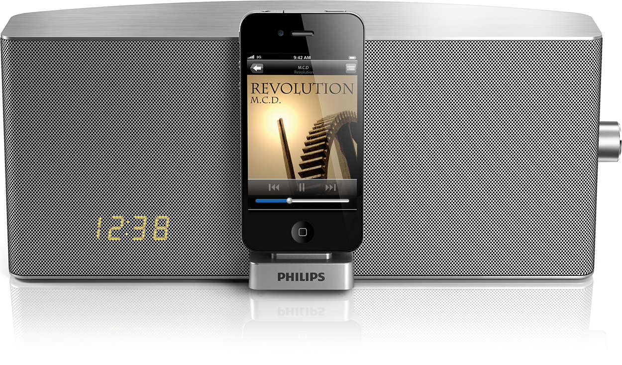 station d 39 accueil pour ipod iphone tci360 12 philips. Black Bedroom Furniture Sets. Home Design Ideas
