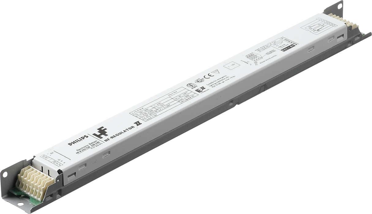 HF-Regulator II per lampade TL5 - Regolazione del flusso: un passo avanti nel risparmio energetico
