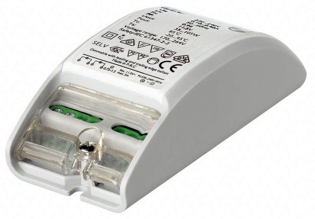 Primaline – en svært kompakt elektronisk transformator for halogenlamper på 12 V