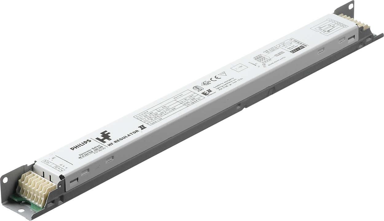 HF Regulator II pour lampes TL-D - Gradation : une nouvelle étape dans le domaine des économies d'énergie