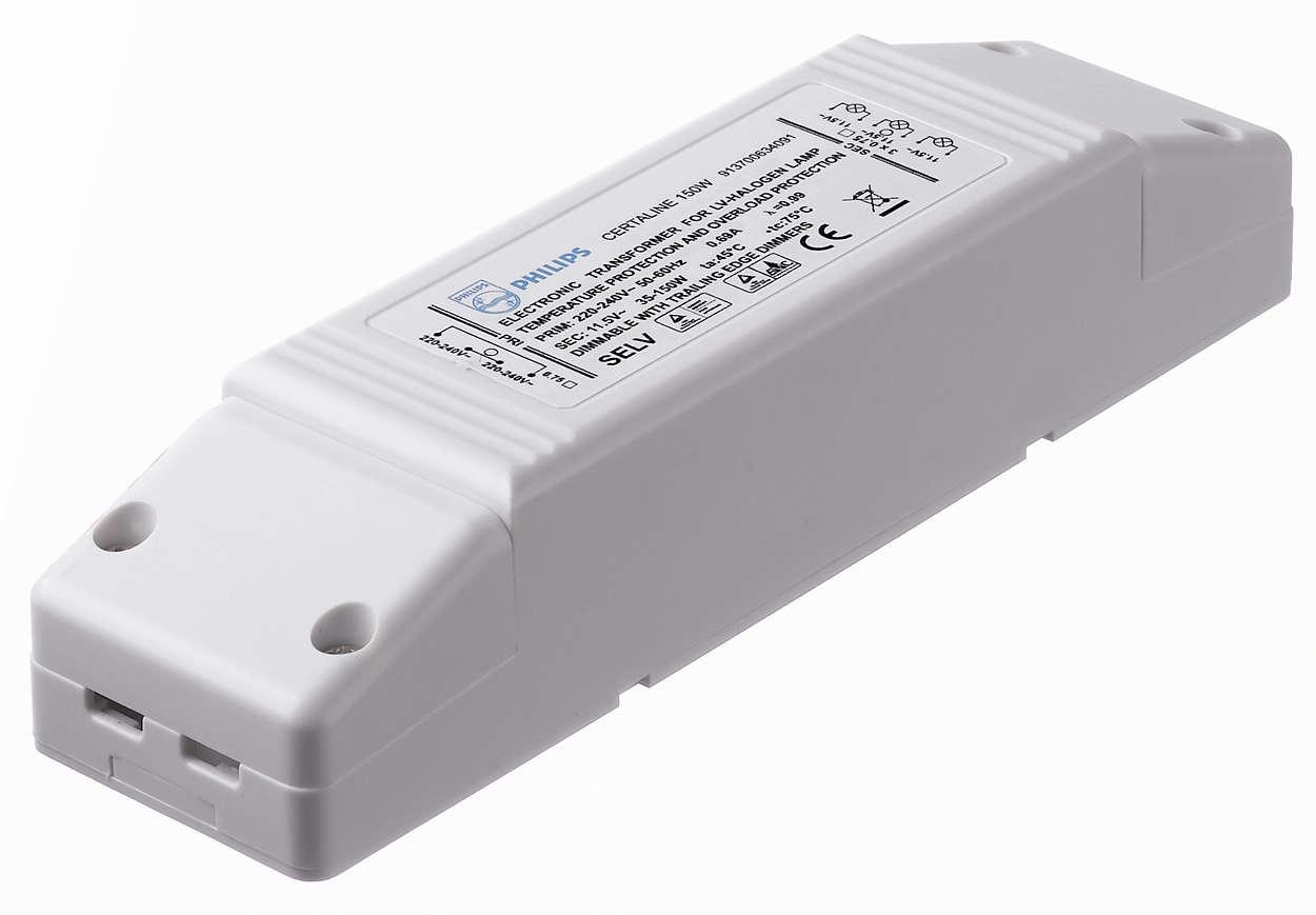 Certaline - Un trasformatore elettronico estremamente compatto per lampade alogene da 12 V