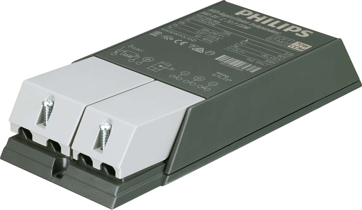 AspiraVision Compact (35, 50 & 70 W) for CDM – The smart electronic gear