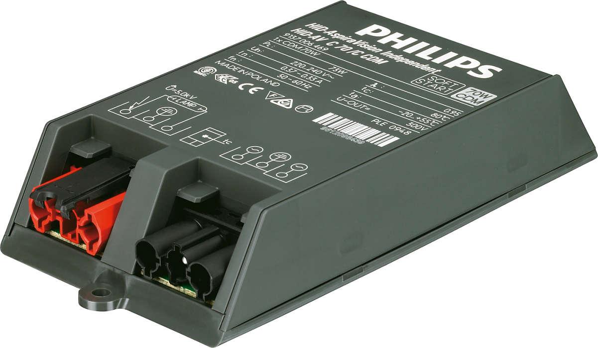 AspiraVision Compact (35, 50 e 70 W) para CDM – O controlo electrónico inteligente