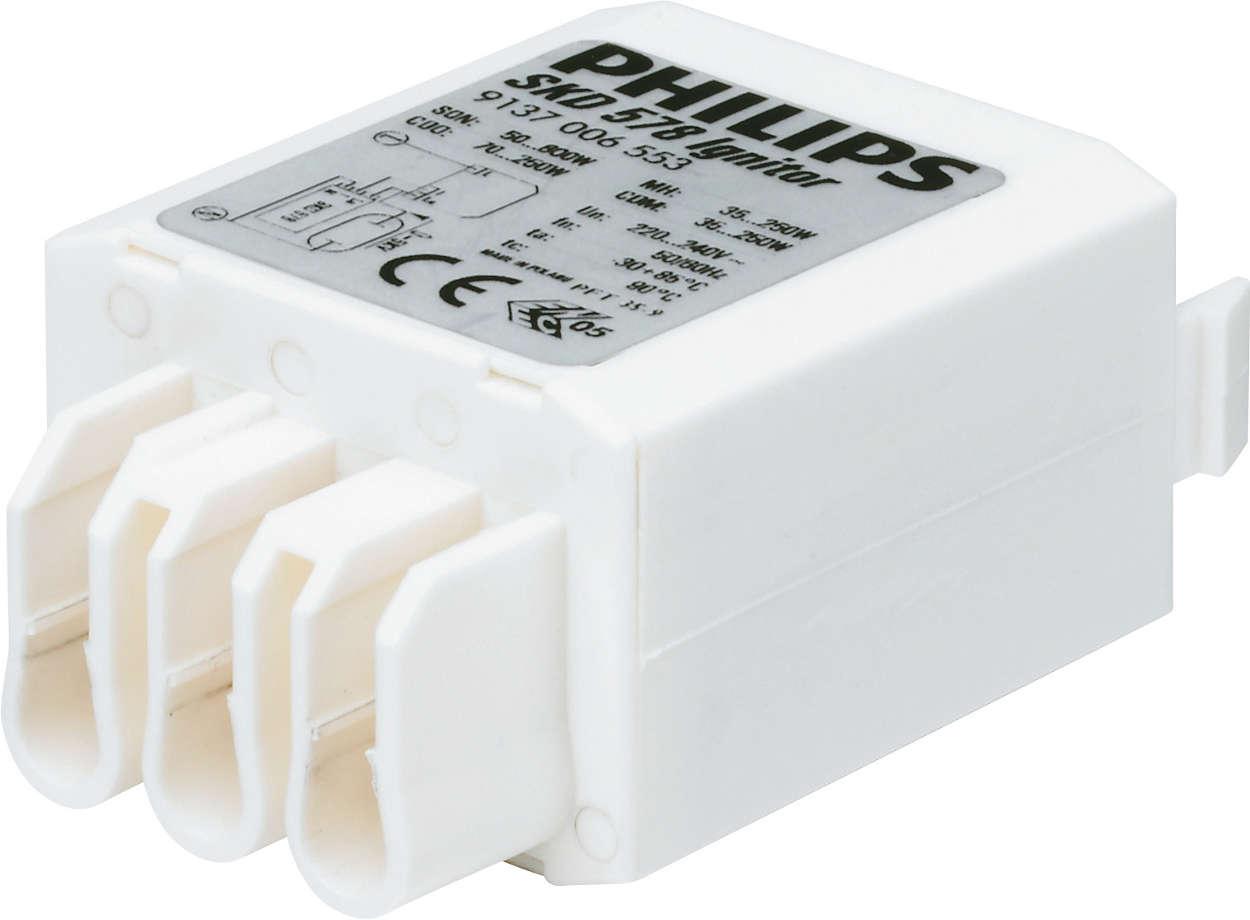 Amorceurs compacts pour une grande flexibilité de conception des luminaires