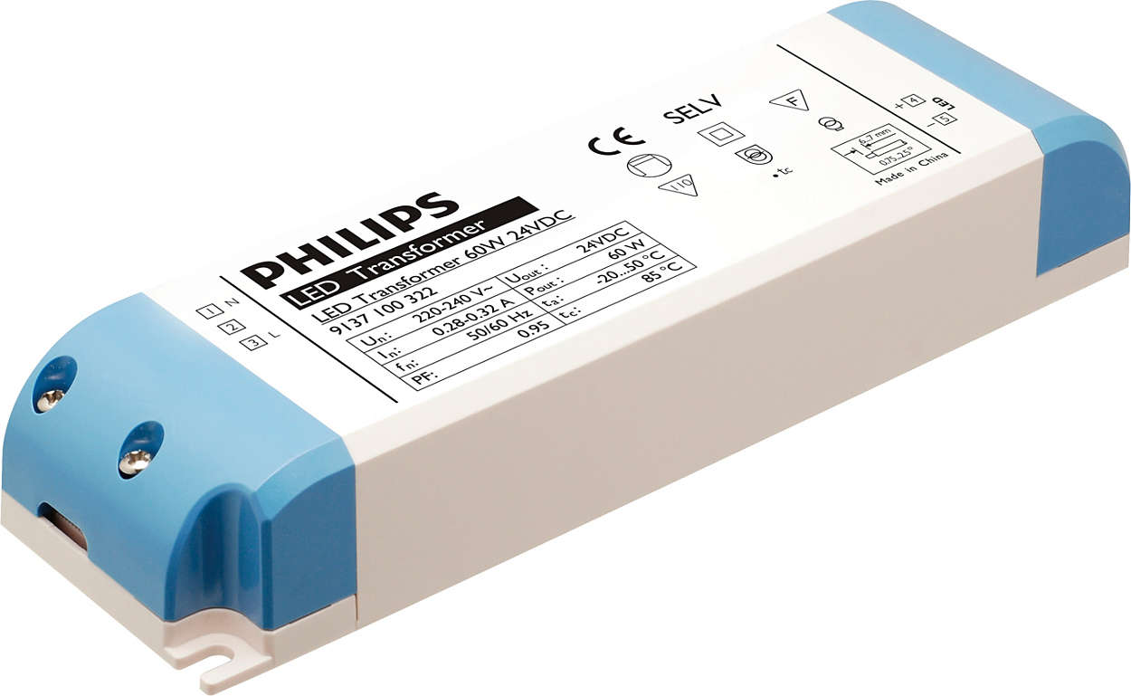 transformer 60w 24vdc led transformer for led strip philips lighting