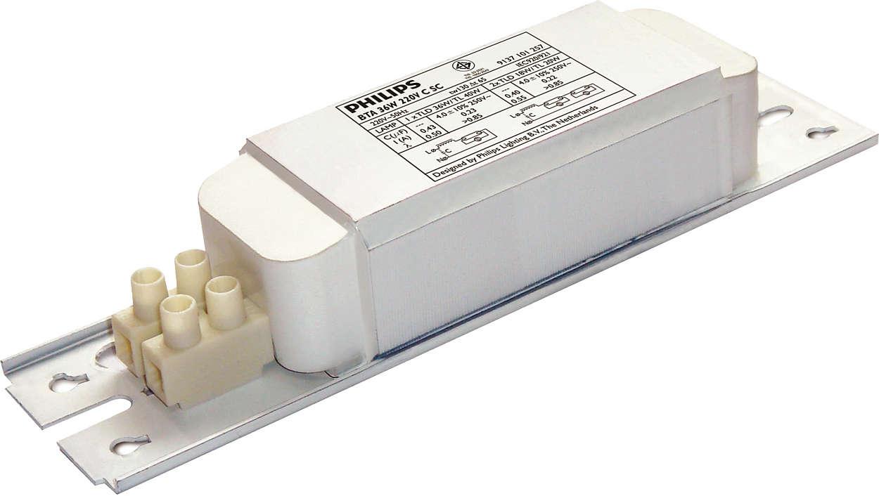 Standard electromagnetic ballast for fluorescent applications