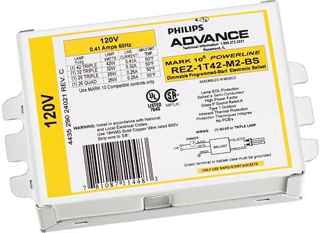MARK 10 POWERLINE ELE DIM BALLAST (1) 18W CFL (4-PIN) 120V