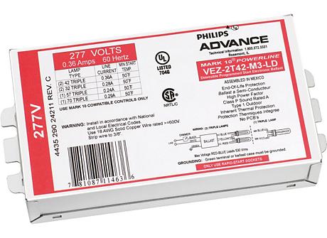 MARK 10 POWERLINE ELE DIM BALLAST (2) 18W CFL (4-PIN) 277V