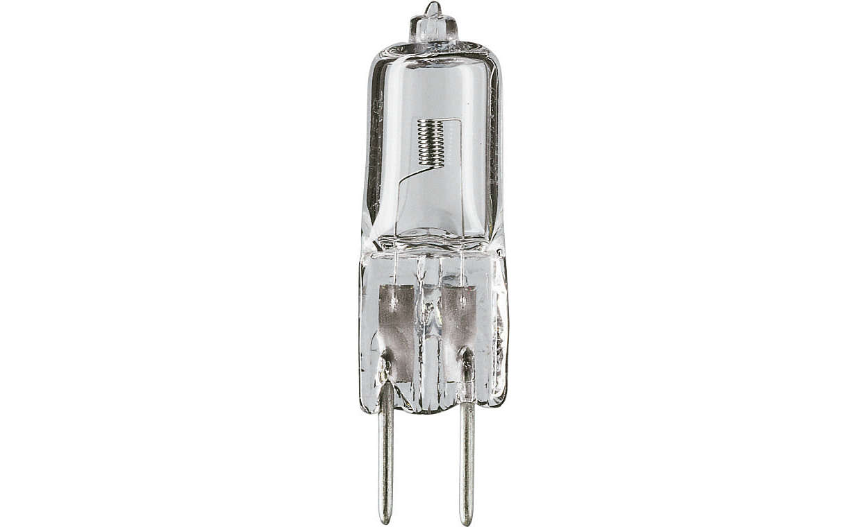 Compact shape, crisp white light