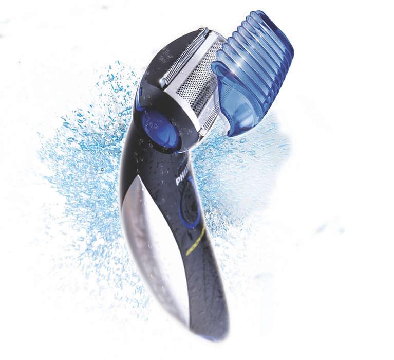 Het hele lichaam trimmen en scheren