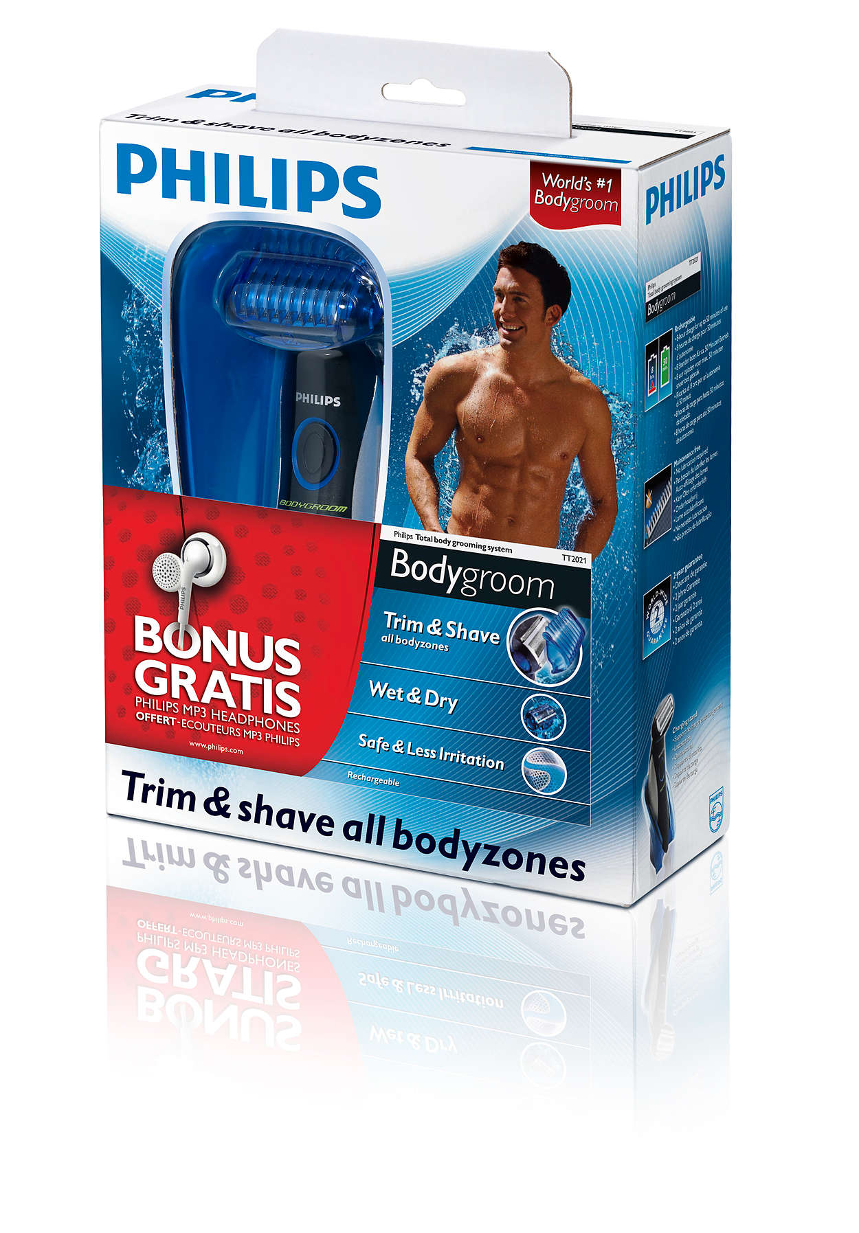 Trim and shave all body zones
