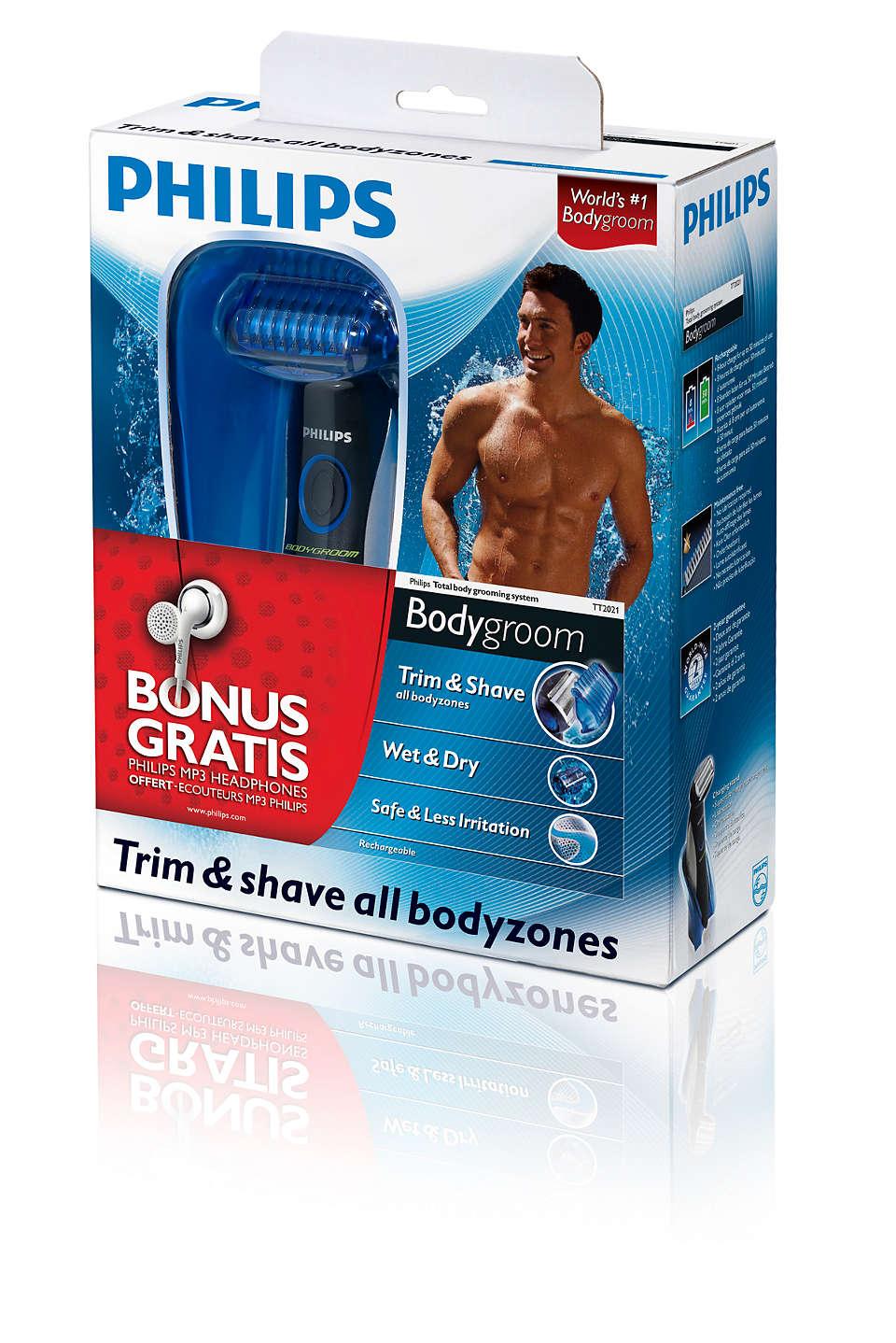 Rasez et tondez toutes les parties de votre corps