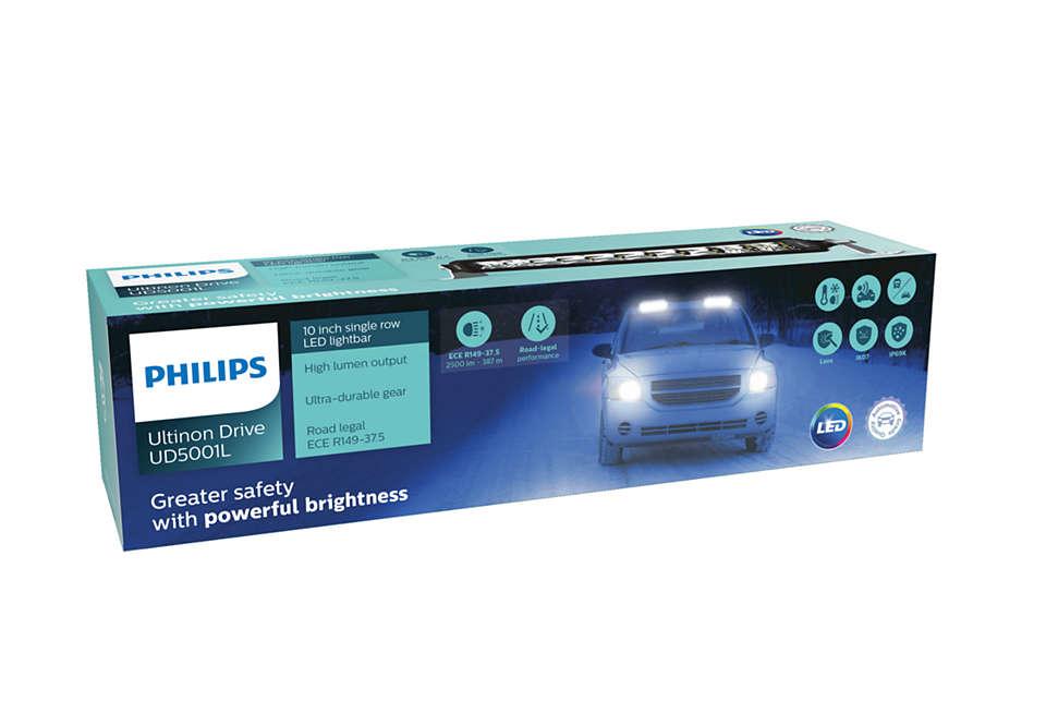 Luminosidade potente parauma condução mais segura