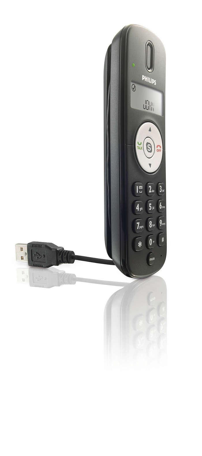 Téléphone nomade pour Skype