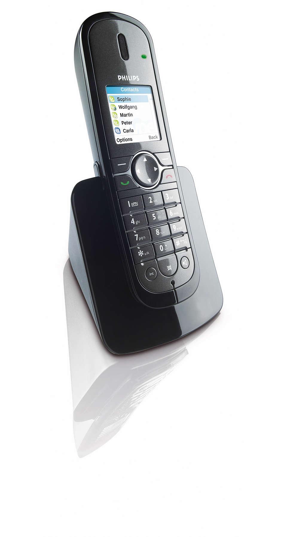 Skype™ and landline calls easily