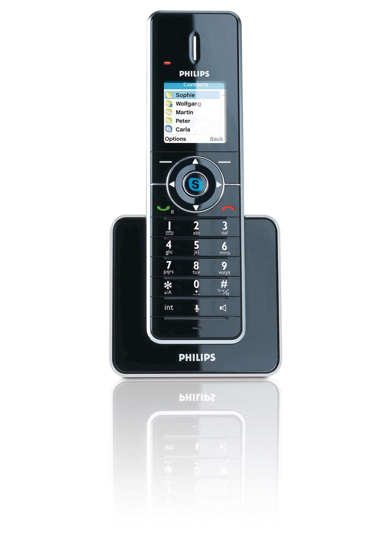 Ring Skype™-samtal och fasta samtal enkelt