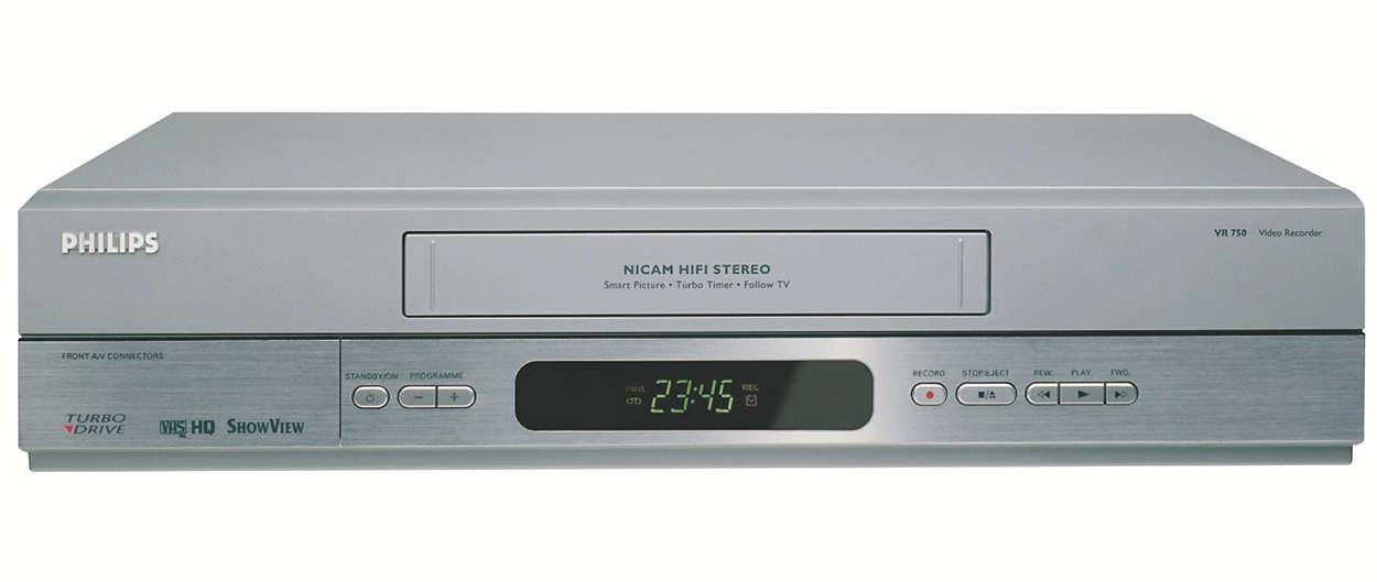 HiFi-videorecorder die bij uw levensstijl past