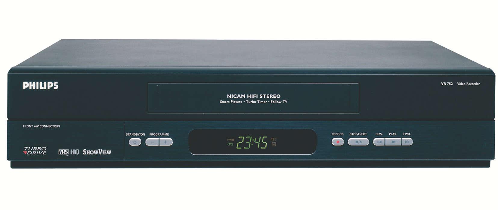 Un magnétoscope hi-fi adapté à votre style de vie