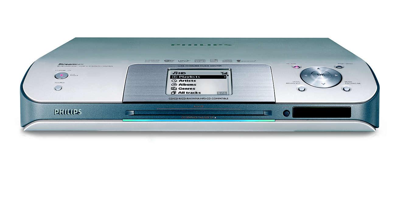 Достъп до вашите компакт дискове във всяка стая