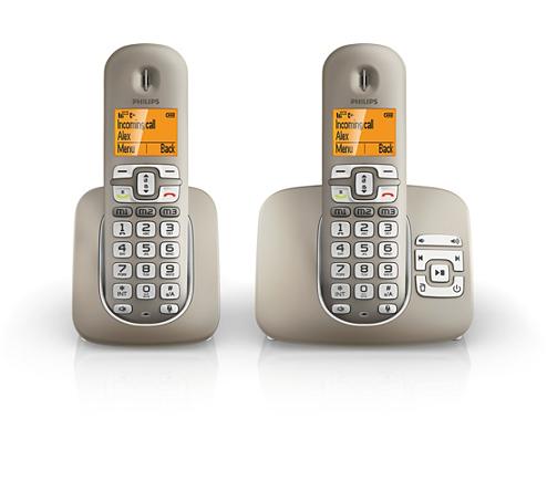 soclear t l phone fixe sans fil avec r pondeur xl3952s 38. Black Bedroom Furniture Sets. Home Design Ideas