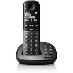 Telefone sem fios com atendedor