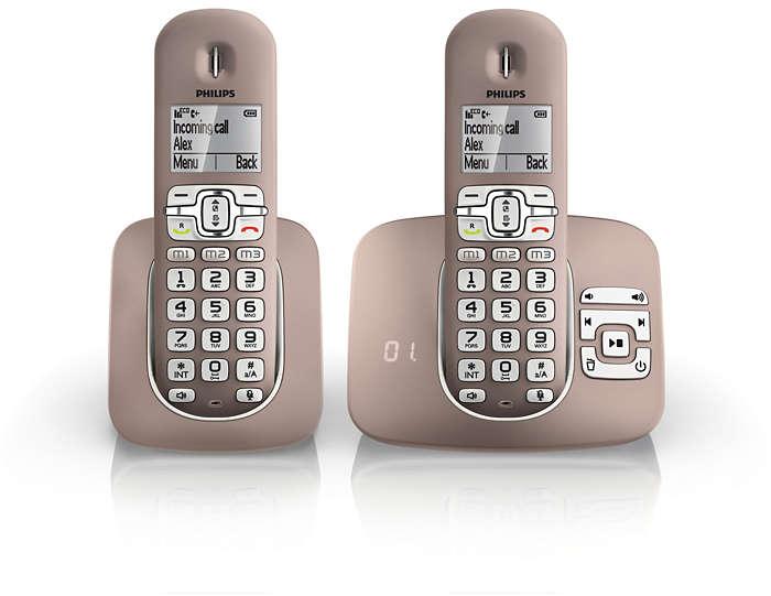 soclear t l phone fixe sans fil avec r pondeur xl5952c 38 philips. Black Bedroom Furniture Sets. Home Design Ideas