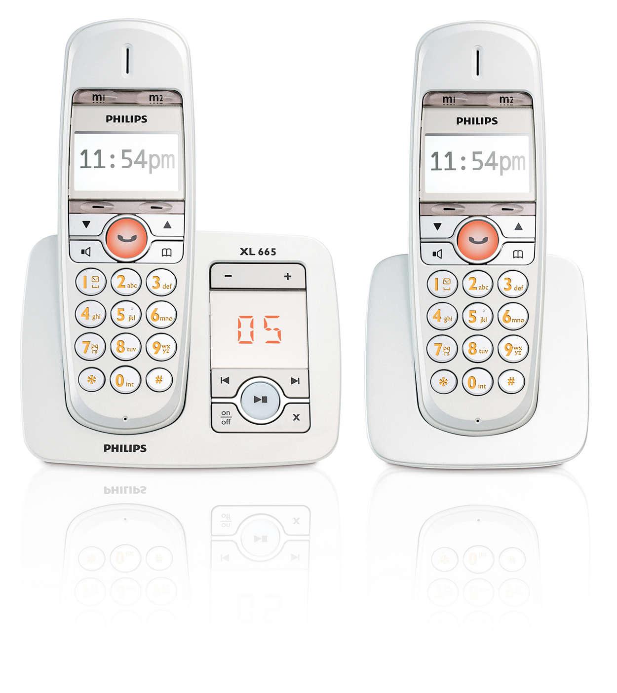 xl t l phone fixe sans fil avec r pondeur xl6652c 38 philips. Black Bedroom Furniture Sets. Home Design Ideas