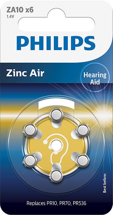 Tecnología Zinc Air de máxima calidad para audífonos