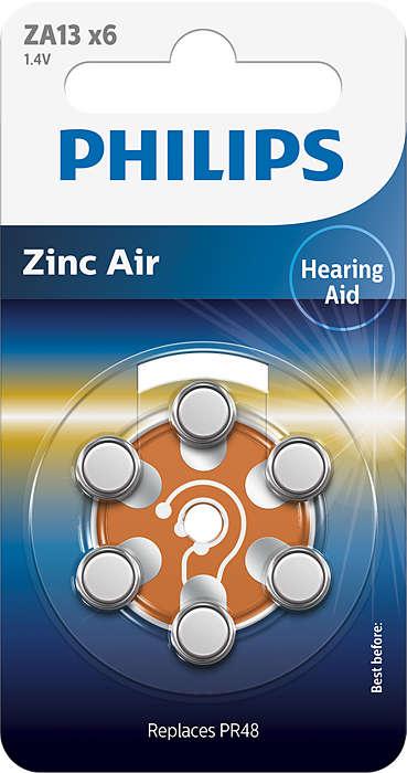 Aukščiausios kokybės cinko-oro technologija klausos aparatams