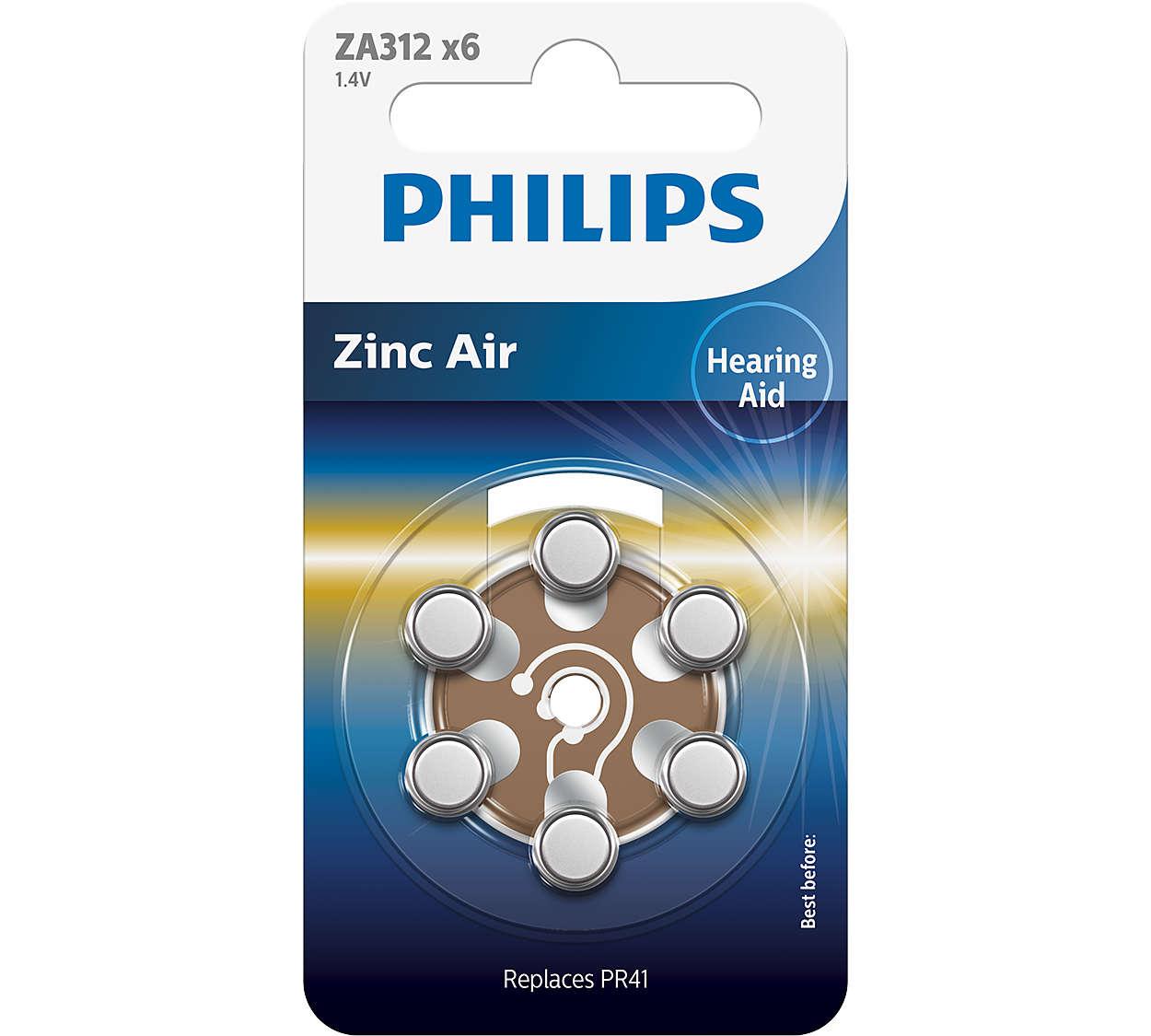 เทคโนโลยี Zinc-air คุณภาพสูงสุดสำหรับอุปกรณ์ช่วยฟัง