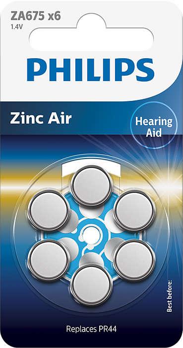 Tecnologia zinco-ar da melhor qualidade para aparelhos auditivos