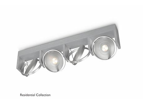 PARTICON bar/tube aluminium 4x4.5W SELV