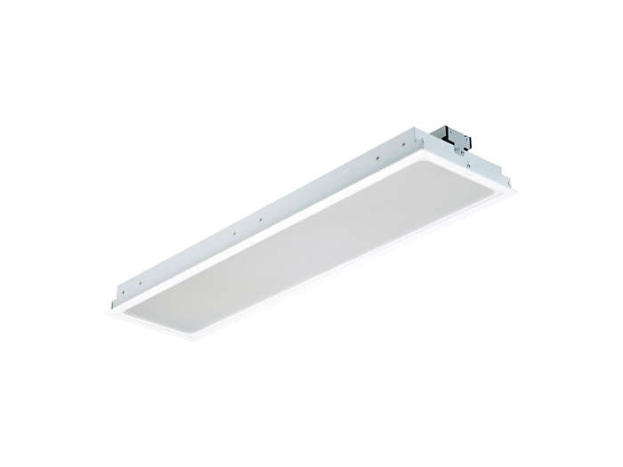 SmartBalance recessed RC480B LED luminaire, module size 300x1200 (concealed profile or plaster ceiling version)