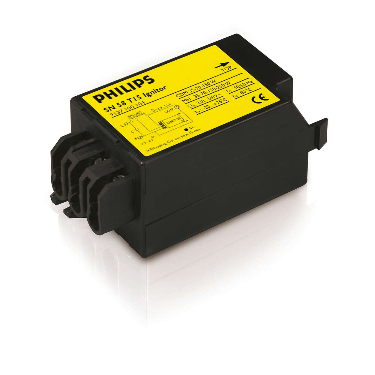 Electronic semi-parallel ignitor for HID lamp circuits