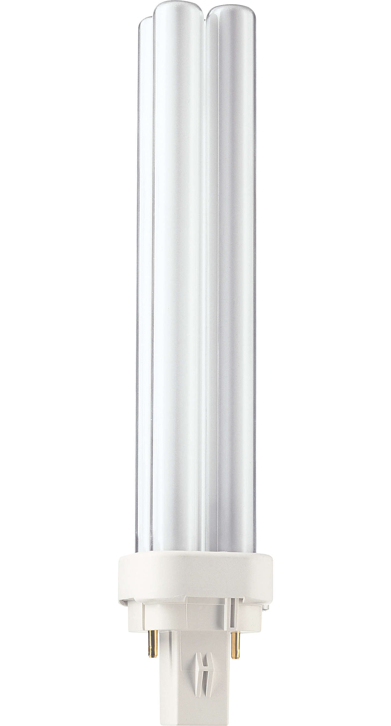 PL-C is an efficient medium-wattage compact fluorescent lamp