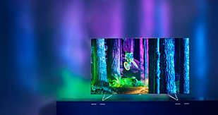 Ambilight: There's nothing quite like it. Sitting down to your favourite TV show and seeing the surrounding walls glow with the colour, vibrancy and excitement of the TV screen. It's so immersive you'll wonder how you ever did without it.