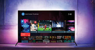 Smart TV: Beautifully intuitive, Android™ makes our TVs so easy to use. In no time, you'll be watching your favourite shows, using apps like YouTube™, playing games, or simply going online. Everything is effortless.