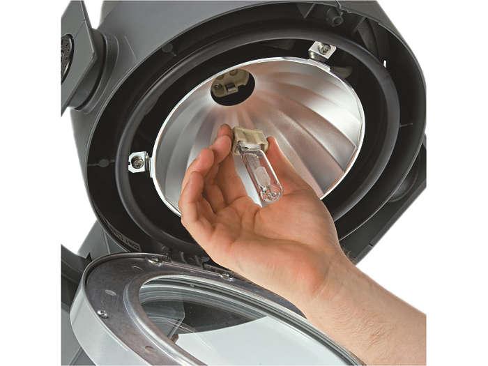 Facile accesso alla lampada
