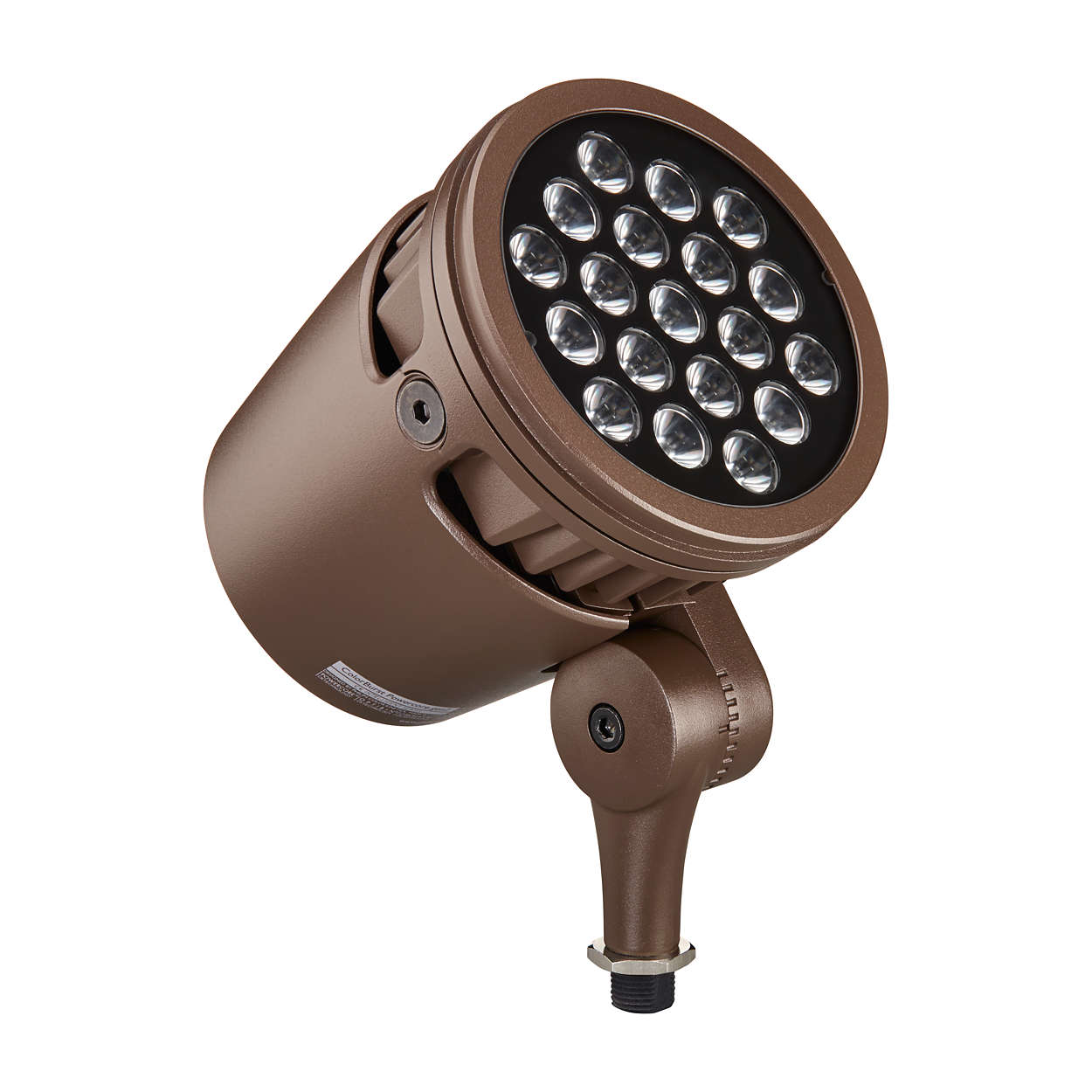 Architectural and landscape LED spotlight with solid white light