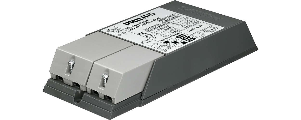 AspiraVision Compact (35 W, 50W y 70 W) para CDM: equipo electrónico de elevadas prestaciones